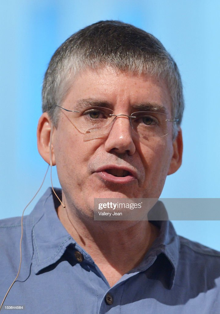 Author Rick Riordan presents his new novel in the Heroes of Olympus series, 'The Mark of Athena', at Temple Judea on October 7, 2012 in Miami, Florida.
