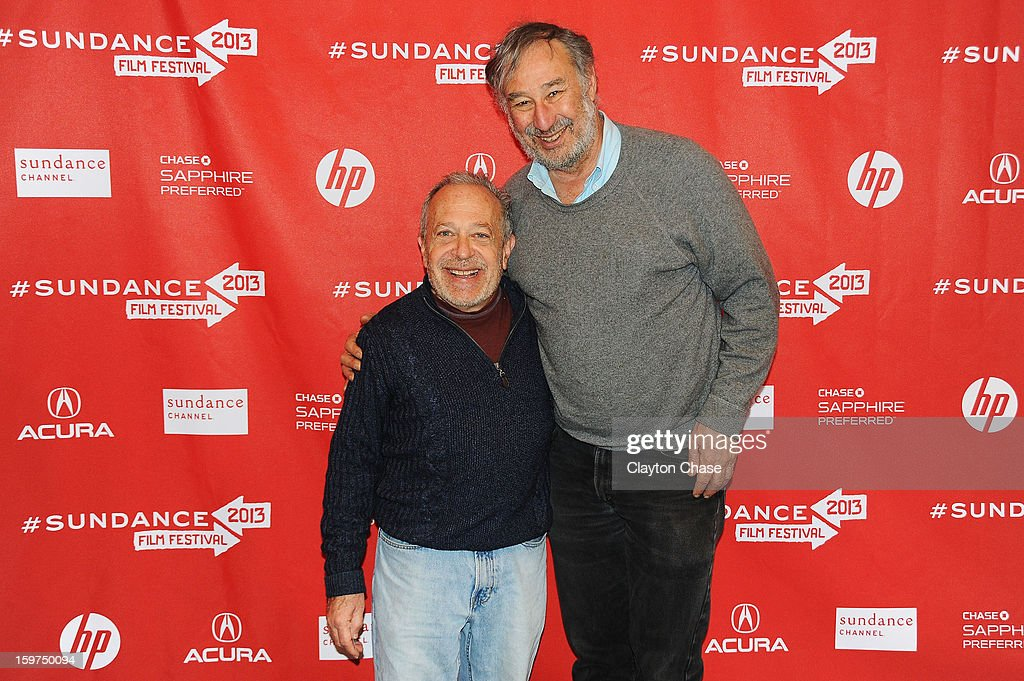 Author Robert Reich and executive producer Steve Silberstein attend the 'Inequality For All' premiere at Prospector Square during the 2013 Sundance Film Festival on January 19, 2013 in Park City, Utah.