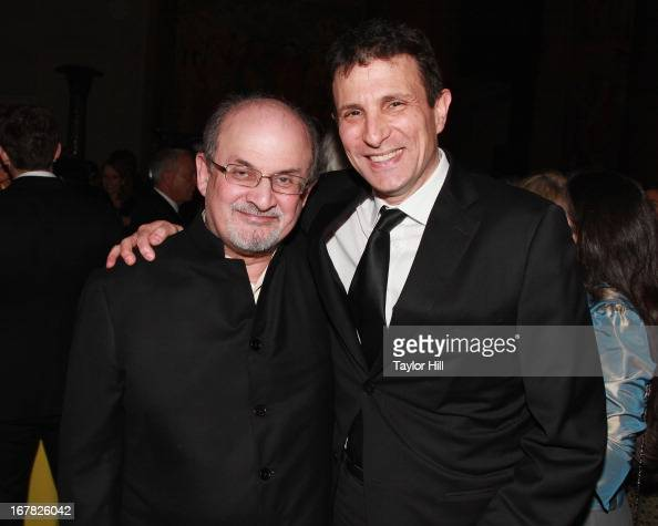 Author Salman Rushdie and EditorinChief of The New Yorker David Remnick attend the 2013 PEN Literary Gala at American Museum of Natural History on...