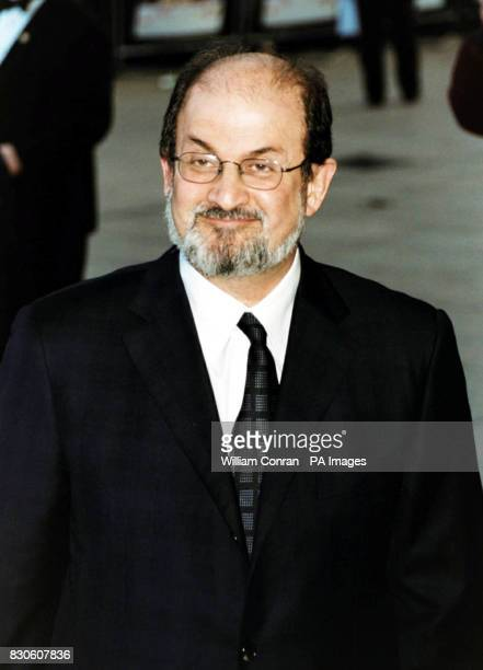 Author Salman Rushdie arriving for the UK premiere of 'Bridget Jones Diary' at the Empire in London's Leicester Square