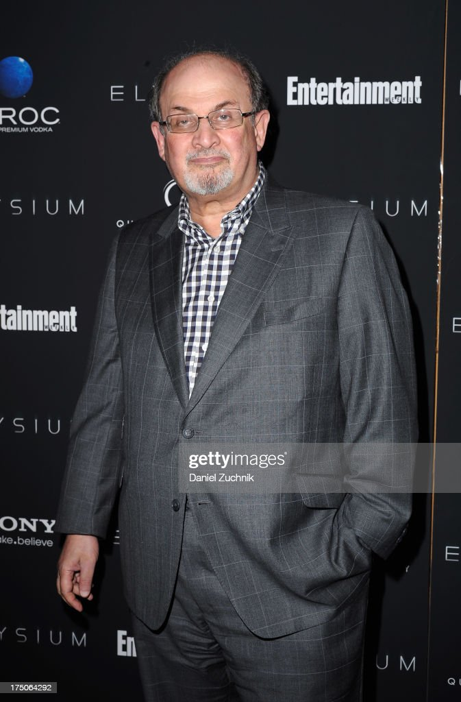 Author Salman Rushdie attends 'Elysium' New York screening at Sunshine Landmark on July 30 2013 in New York City