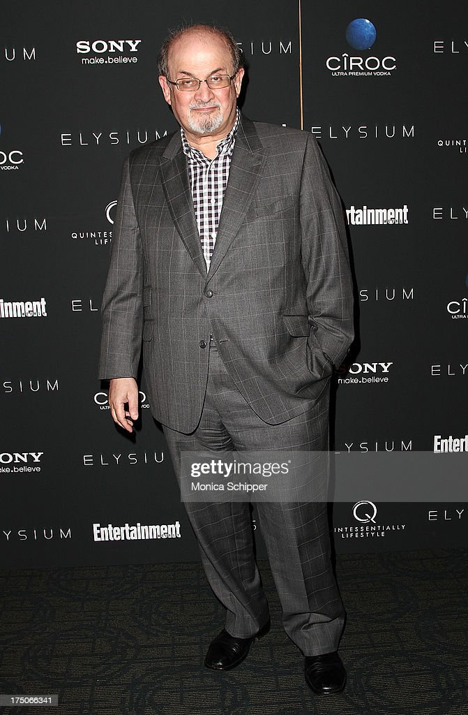 Author Salman Rushdie attends 'Elysium' screening at Sunshine Landmark on July 30 2013 in New York City