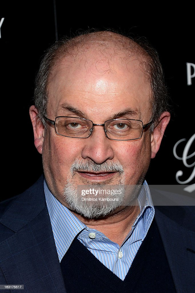 Author <a gi-track='captionPersonalityLinkClicked' href=/galleries/search?phrase=Salman+Rushdie&family=editorial&specificpeople=203293 ng-click='$event.stopPropagation()'>Salman Rushdie</a> attends the Gucci and The Cinema Society screening of 'Oz the Great and Powerful' at DGA Theater on March 5, 2013 in New York City.