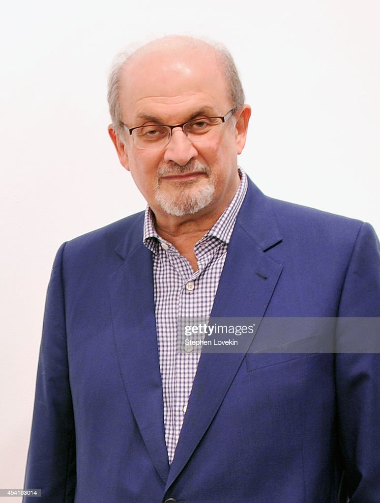 Author Salman Rushdie attends 'The Invention Of Exile' Book Launch at PowerHouse Arena on August 25, 2014 in the Brooklyn borough of New York City.