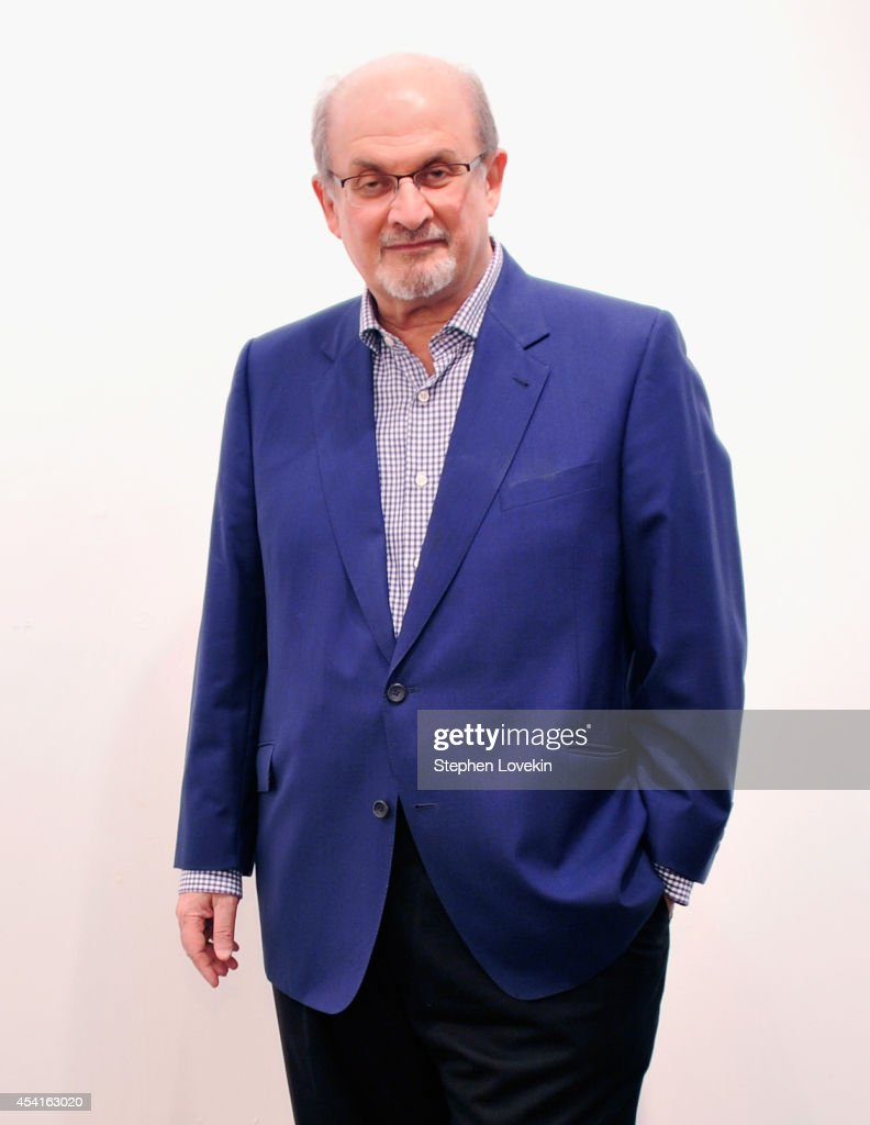 Author <a gi-track='captionPersonalityLinkClicked' href=/galleries/search?phrase=Salman+Rushdie&family=editorial&specificpeople=203293 ng-click='$event.stopPropagation()'>Salman Rushdie</a> attends 'The Invention Of Exile' Book Launch at PowerHouse Arena on August 25, 2014 in the Brooklyn borough of New York City.