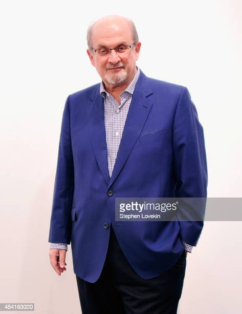 Author Salman Rushdie attends 'The Invention Of Exile' Book Launch at PowerHouse Arena on August 25 2014 in the Brooklyn borough of New York City