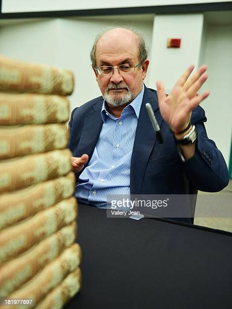 Author Salman Rushdie presents and sign copies of His new Book 'Joseph Anton A Memoir' presented by Books and Books at Chapman Conference Center at...