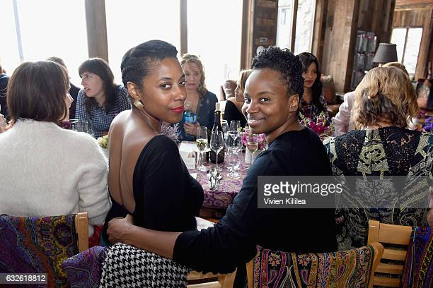 Author Sarah M Bloom and director Dee Rees attend Lunch Celebrating Films Powered By Women Hosted By Glamour's Cindi Leive And Girlgaze's Amanda de...