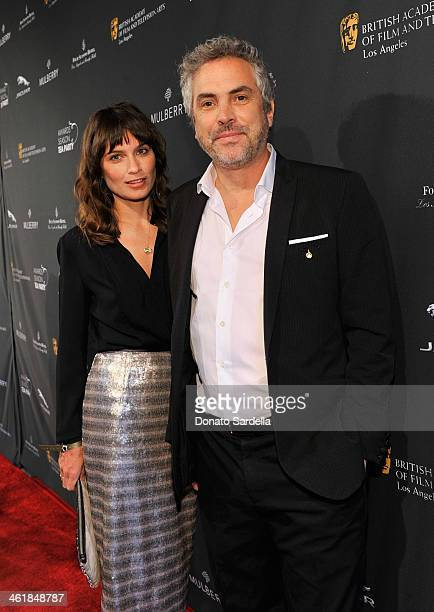 Author Sheherazade Goldsmith and Director Alfonso Cuarón attend the BAFTA LA Awards Season Tea Party with Mulberry at the Four Seasons Hotel Los...