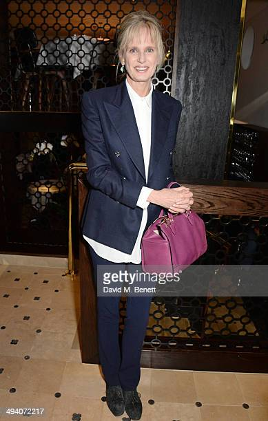 Author Siri Hustvedt attends a private dinner hosted by PORTER Magazine for author Siri Hustvedt at Toto's Restaurant on May 27 2014 in London England