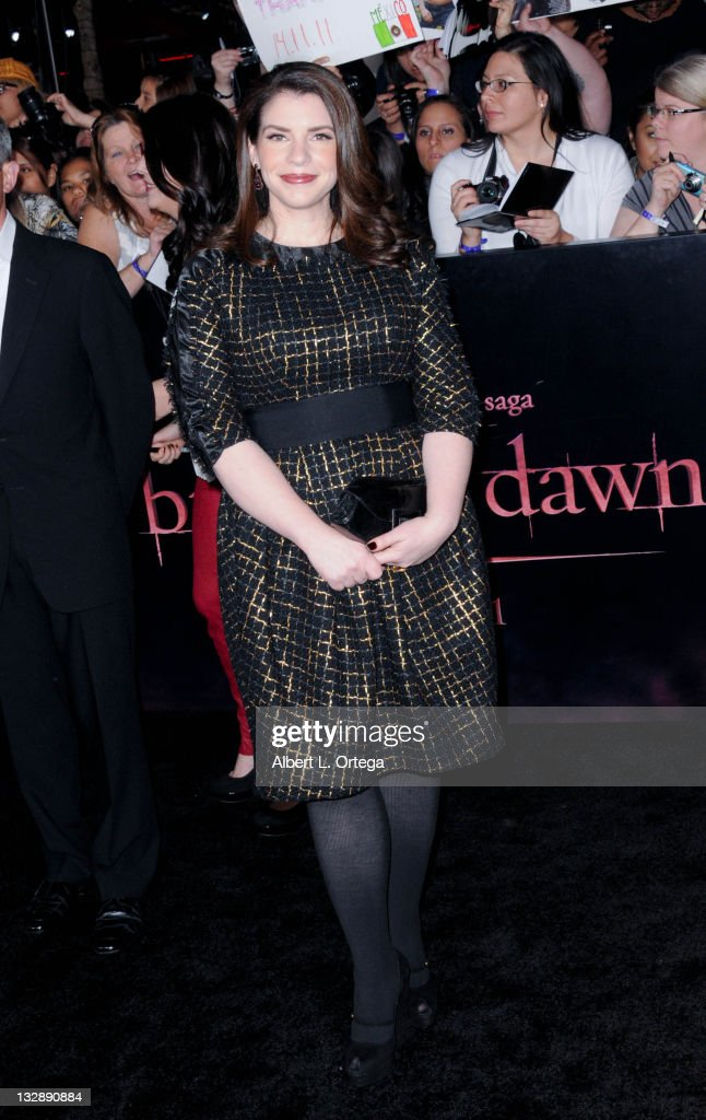 Author Stephanie Meyer arrives for Summit Entertainment's 'The Twilight Saga: Breaking Dawn - Part 1' held at Nokia Theatre L.A. Live on November 14, 2011 in Los Angeles, California.