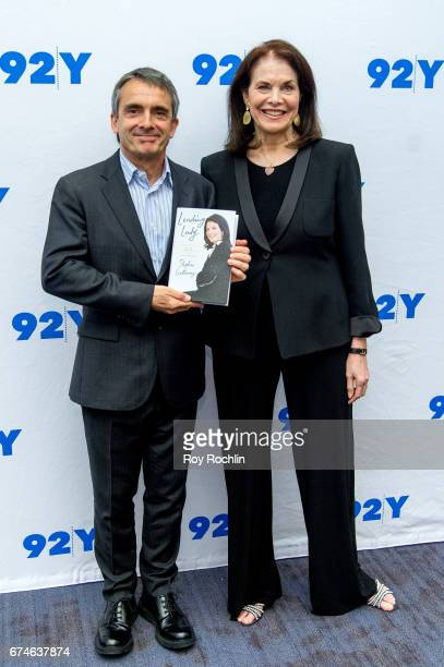 Author Stephen Galloway and Sherry Lansing attend Sherry Lansing In Conversation With Michael Douglas Stephen Galloway at 92nd Street Y on April 28...