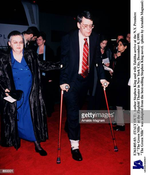 Author Stephen King and wife Tabitha arrive at the NY Premiere of 'The Green Mile' at the Ziegfeld Theater in New York City December 8 1999 'The...