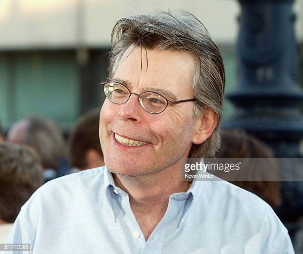 Author Stephen King arrives at the premiere of Paramounts' 'The Manchurian Candidate' at the Samual Goldwyn Theater on July 22 2004 in Beverly Hills...