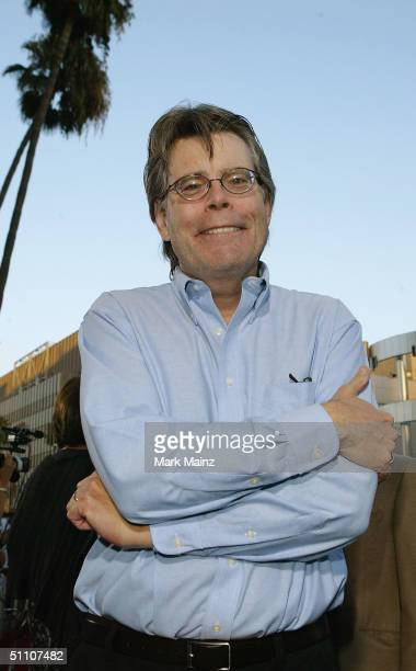 Author Stephen King attends the premiere of 'The Manchurian Candidate' on July 22 2004 at the Samuel Goldwyn Theatre in Los Angeles California
