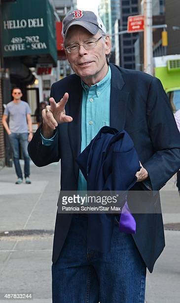 Author Stephen King is seen on September 11 2015 in New York City