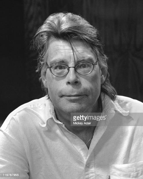Author Stephen King poses at Dodd Hall on the campus of Florida State University in Tallahassee Florida on February 26 2006