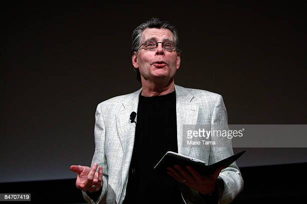 Author Stephen King reads from his new novella 'Ur' exclusively available on the Kindle at an unveiling event for the Amazon Kindle 2 at the Morgan...