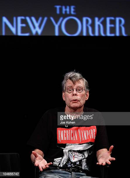 Author Stephen King speaks at the 2010 New Yorker Festival at Acura at SIR Stage37 on October 2 2010 in New York City