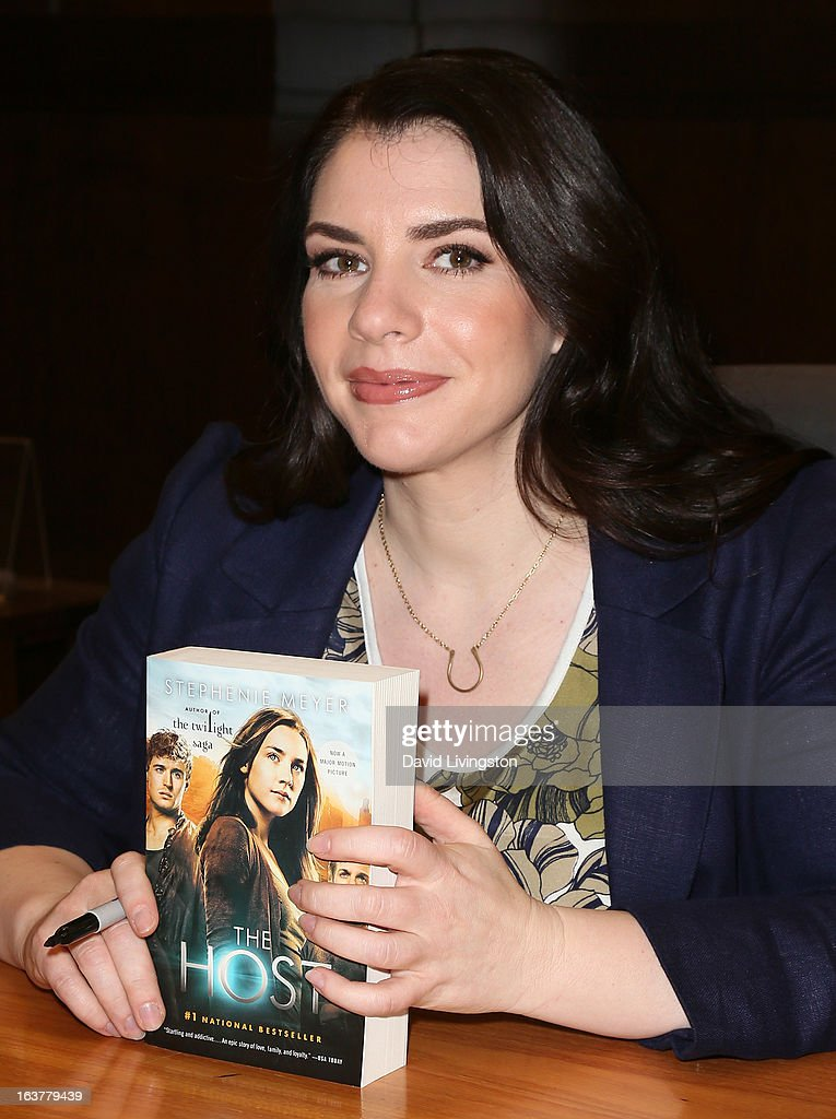 Author Stephenie Meyer attends a signing for her book 'The Host' at Barnes & Noble bookstore at The Grove on March 15, 2013 in Los Angeles, California.