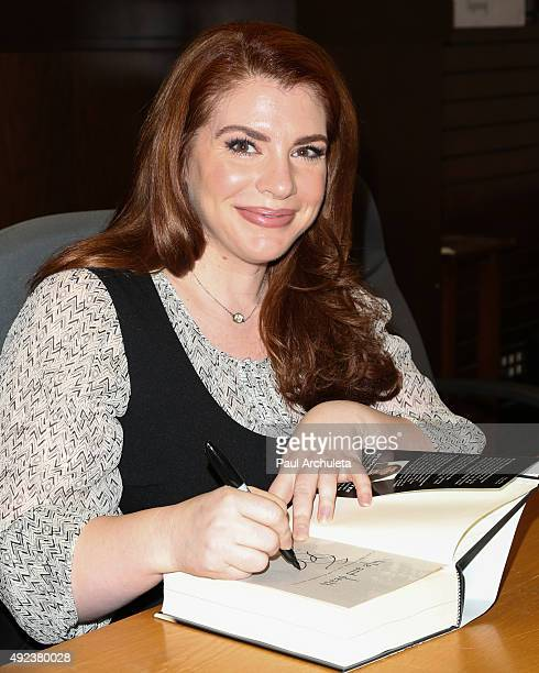 Author Stephenie Meyer celebrates the tenth anniversary of 'Twilight' with a special QA at Barnes Noble at The Grove on October 12 2015 in Los...