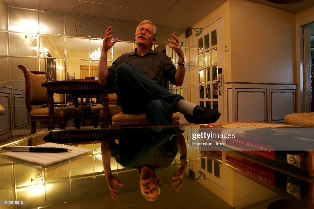 Author Steven Alter at Hotel Gordon House, Colaba on July 22, 2005 in Mumbai, India.