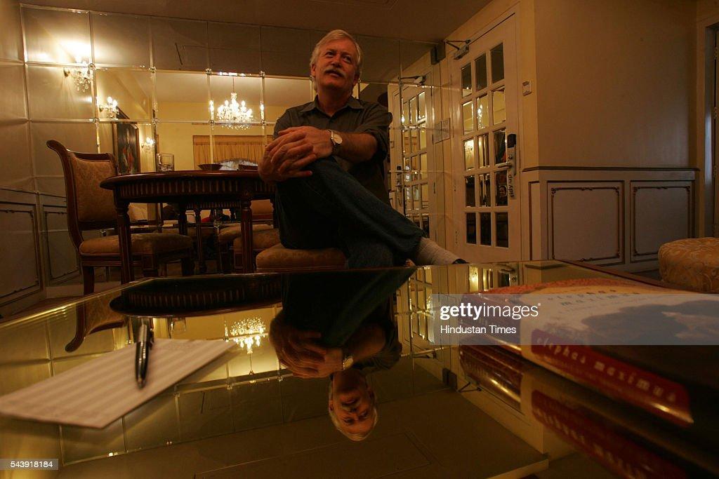 Author Steven Alter at Hotel Gordon House, Colaba.