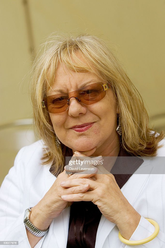 Author Sue Townsend poses for a portrait at 'The Guardian Hay Festival 2005' held at Hay on Wye on May 28, 2005 in Powys, Wales. The festival runs until June 5.