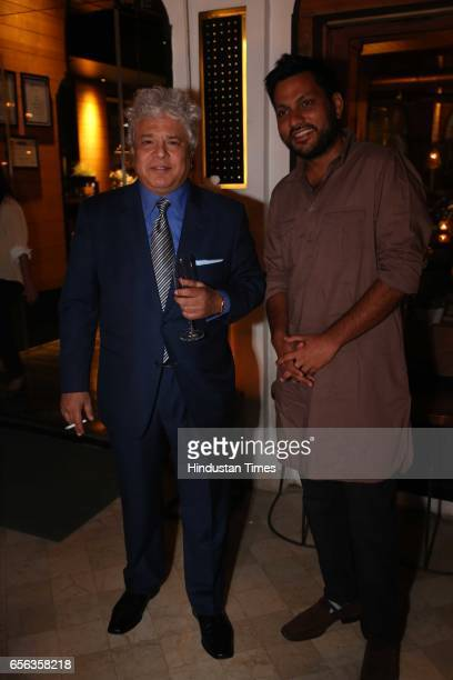 Author Suhel Seth and Rahul Rai during a special show curated by designer duo Shantanu Nikhil for the travel platform Airbnb on March 19 in New Delhi...
