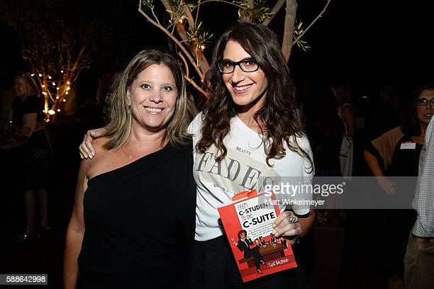 Author Tami Holzman and Kendy Walther attend the book launch for 'From CStudent to the CSuite Leveraging Emotional Intelligence' at PLATFORM in...