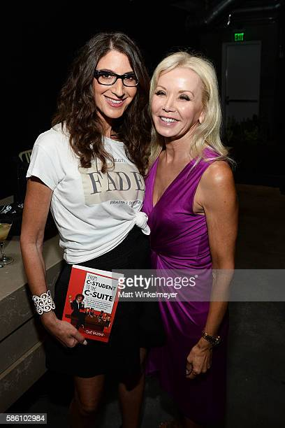 Author Tami Holzman and Margie Keyes attend the book launch for 'From CStudent to the CSuite Leveraging Emotional Intelligence' at PLATFORM in Hayden...