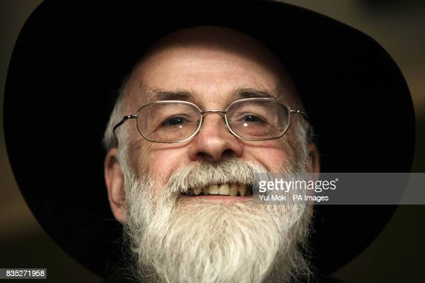 Author Terry Pratchett during a photocall to annouce the recording of an album of songs from the scifi musical 'Only You Can Save Mankind' based on...