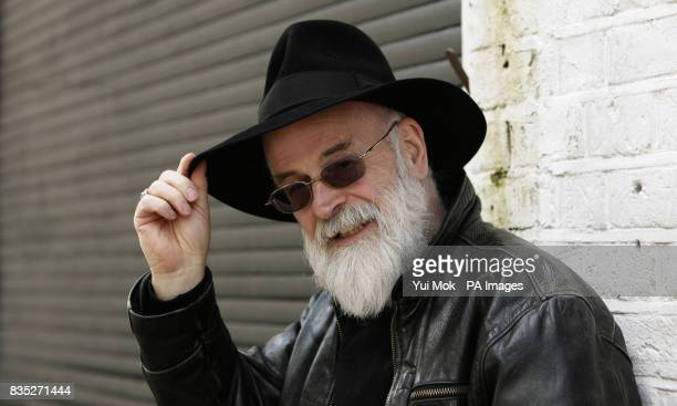 Author Terry Pratchett during a photocall to announce the recording of an album of songs from the scifi musical 'Only You Can Save Mankind' based on...