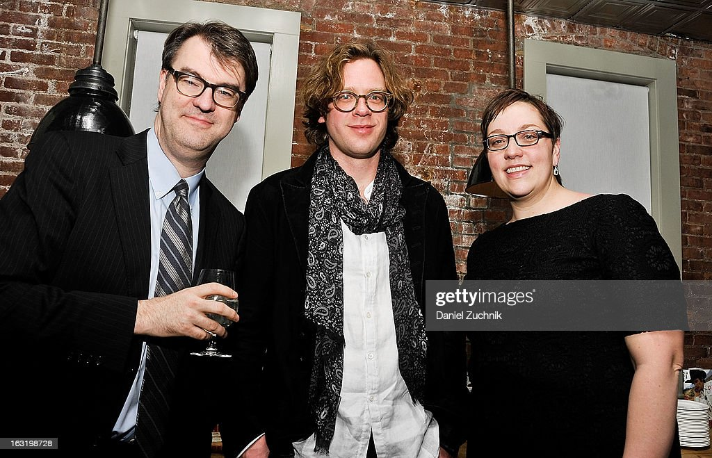 Author Tom Folsom(C) attends the 'Hopper: A Journey Into the American Dream' book launch on March 5, 2013 in New York City.