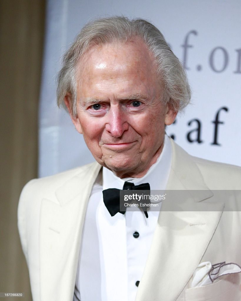 Author <a gi-track='captionPersonalityLinkClicked' href=/galleries/search?phrase=Tom+Wolfe+-+Writer&family=editorial&specificpeople=13712137 ng-click='$event.stopPropagation()'>Tom Wolfe</a> attends the 2012 Trophee Des Arts gala at The Plaza Hotel on November 30, 2012 in New York City.