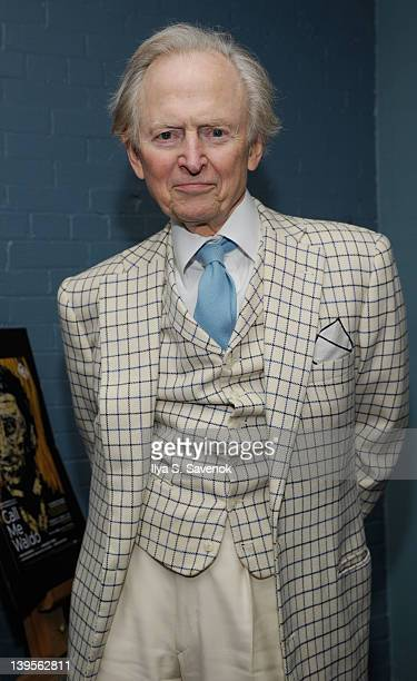 Author Tom Wolfe attends the opening night of 'Call Me Waldo' at the June Havoc Theatre on February 22 2012 in New York City