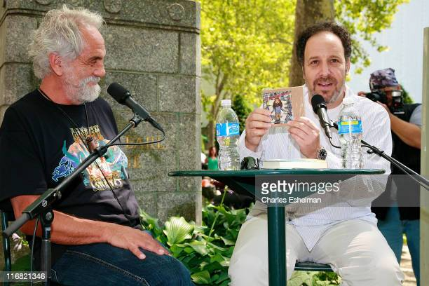 Author Tommy Chong and writer Josh Gilbert speak at 'Cheech Chong The Unauthorized Autobiography' at the Bryant Park Reading Room on August 13 2008...