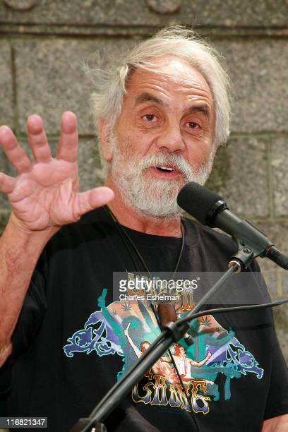 Author Tommy Chong signs copies of 'Cheech Chong The Unauthorized Autobiography' at the Bryant Park Reading Room on August 13 2008 in New York City