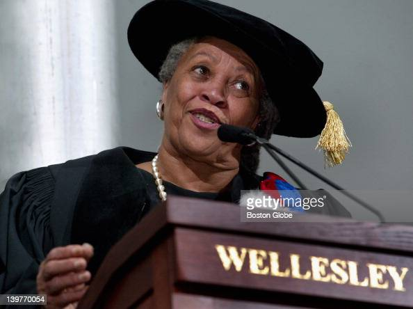 Author Toni Morrison delivers the commencement address at Wellesley College
