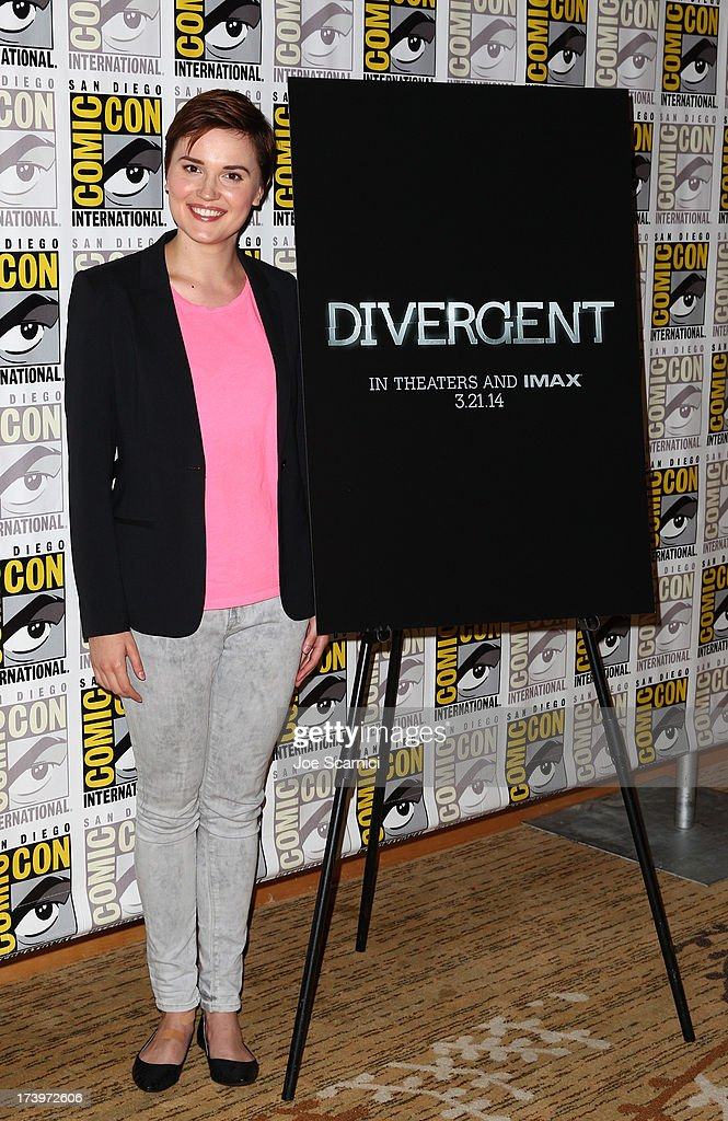 Author Veronica Roth attends 'Divergent' Comic-Con Press Line at San Diego Convention Center on July 18, 2013 in San Diego, California.