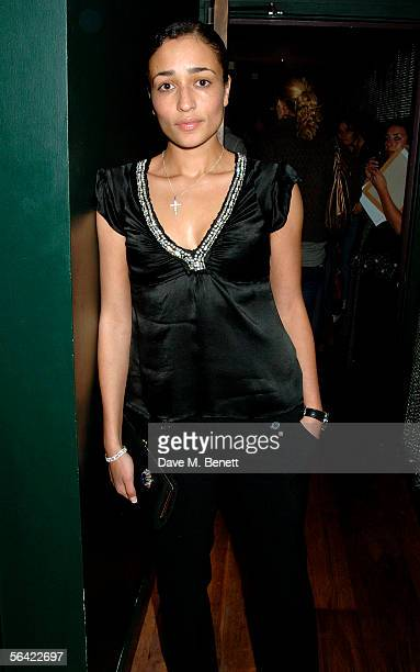 Author Zadie Smith attends the screening of Gwyneth Paltrow's favorite film 'Annie Hall' at The Electric Cinema on December 12 2005 in London England