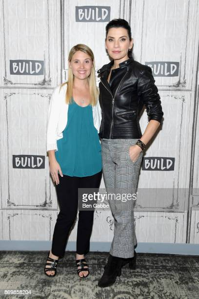 Author/activist Erin Merryn and actress Julianna Margulies visit the Build Series to discuss Erin's Law at Build Studio on November 3 2017 in New...