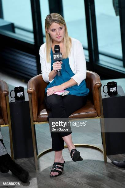 Author/activist Erin Merryn visits the Build Series to discuss Erin's Law at Build Studio on November 3 2017 in New York City