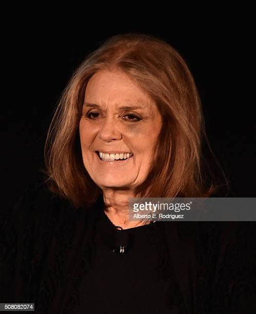 Author/activist Gloria Steinem speaks at the AOL 2016 MAKERS conference at Terranea Resort on February 2 2016 in Rancho Palos Verdes California