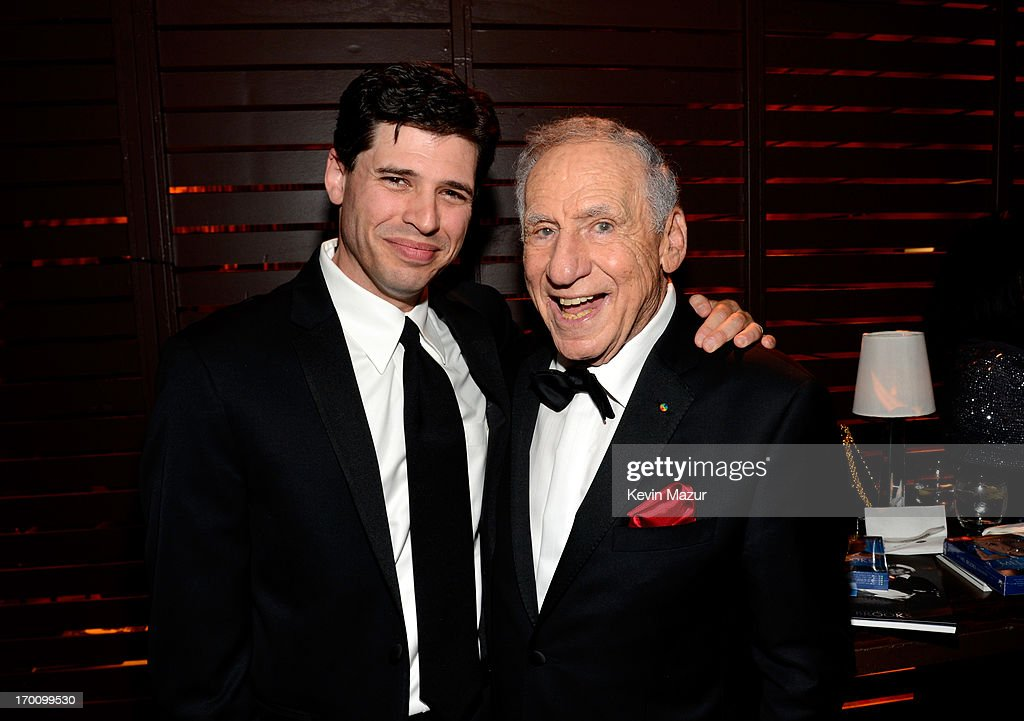 Author/Actor Max Brooks and honoree Mel Brooks attend the after party for AFI's 41st Life Achievement Award Tribute to Mel Brooks at Dolby Theatre on June 6, 2013 in Hollywood, California. 23647_004_KM_1897.JPG