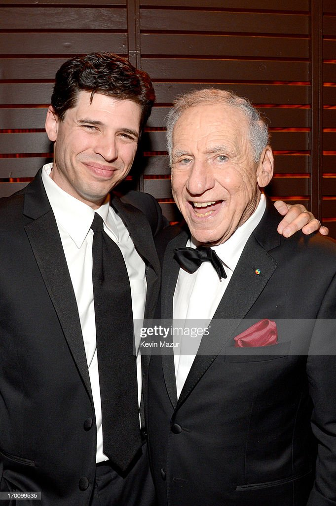 Author/Actor Max Brooks and honoree Mel Brooks attend the after party for AFI's 41st Life Achievement Award Tribute to Mel Brooks at Dolby Theatre on June 6, 2013 in Hollywood, California. 23647_004_KM_1899.JPG