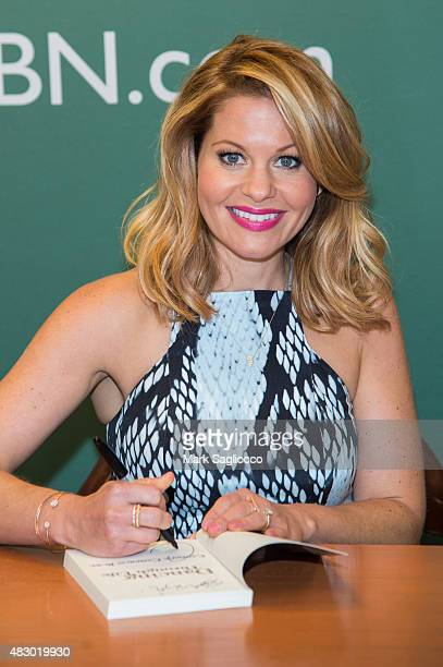 Author/Actress Candace CameronBure promotes her new book 'Dancing Through Life' at Barnes Noble 5th Avenue on August 5 2015 in New York City