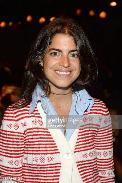 Author/blogger Leandra Medine attends the Sally LaPointe Fashion Show during Spring 2016 New York Fashion Week at Skylight Modern on September 11...
