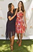 Author/celebrity yogiÊRainbeau Mars and Jennifer Ferguson attend Rainbeau Mars E Book Brunch Celebration on July 22 2016 in Beverly Hills California