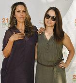 Author/celebrity yogiÊRainbeau Mars and stylist Karolina Matras attend Rainbeau Mars E Book Brunch Celebration on July 22 2016 in Beverly Hills...